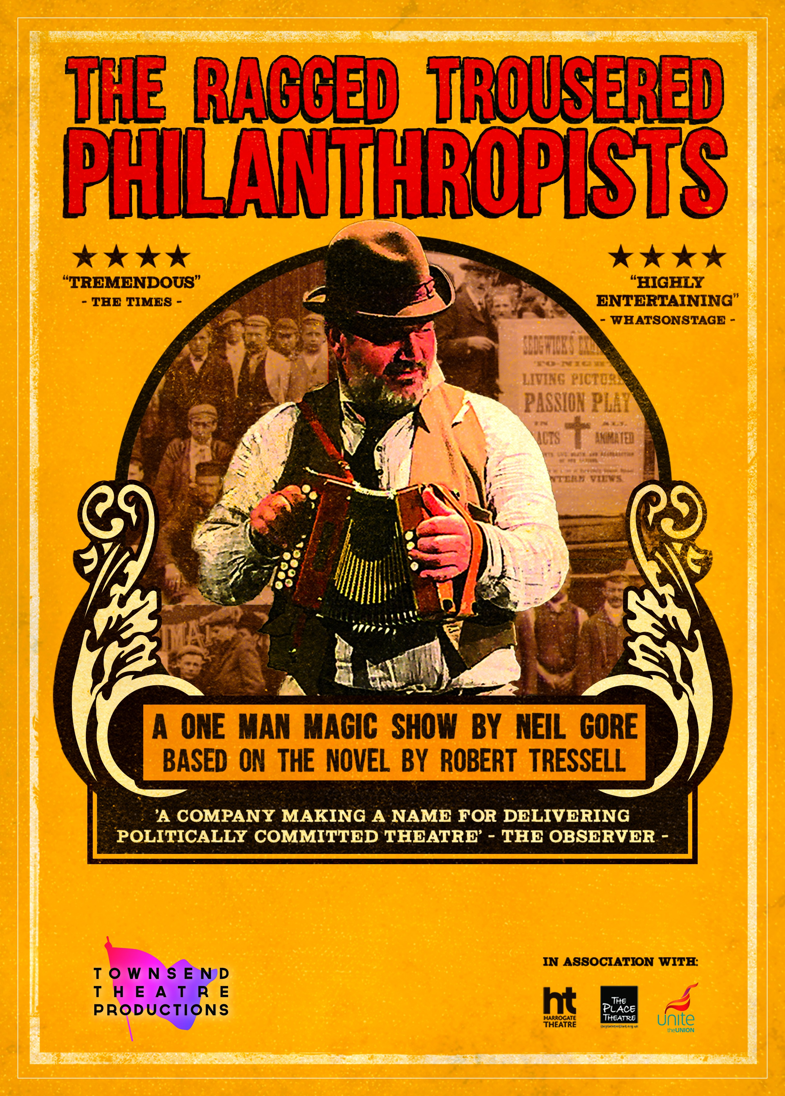 To design an Edwardian Style poster to sell a one man magic lantern show that will tour the UK.