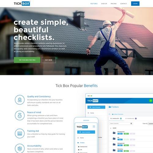 Design a online checklist website !