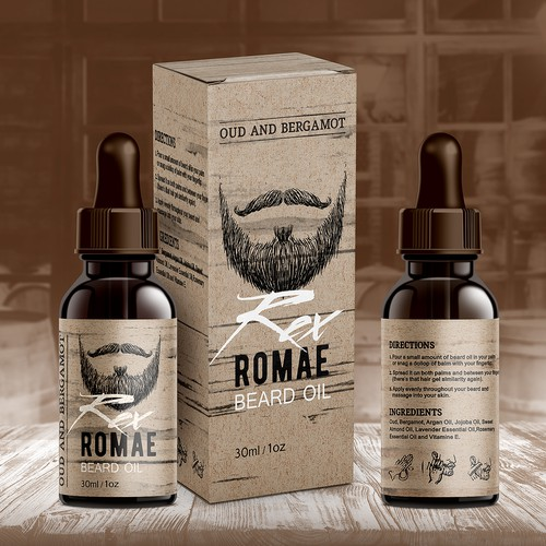 Label Rex Romae Beard Oil