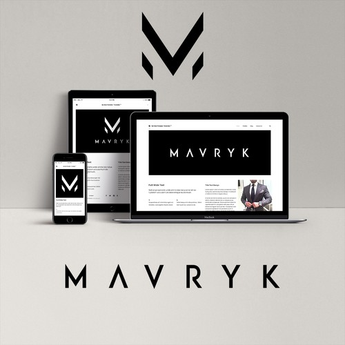 "Logo design for a men's lifestyle / e-commerce website - ""Mavryk"""