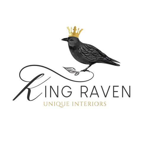 Raven logo design for furniture company