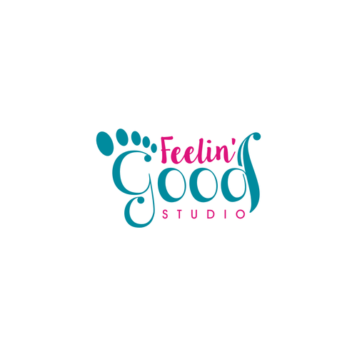 create vibrant logo reflexology yoga studio
