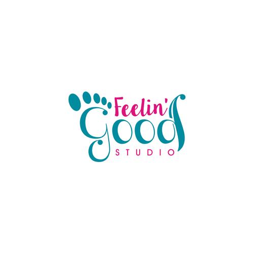 create vibrant logo reflexology yoga studio