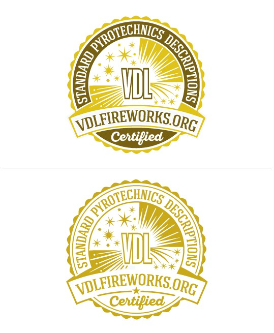 "Authoritative, classic ""seal"" style logo for organization in the fireworks industry! Helpful material in brief"
