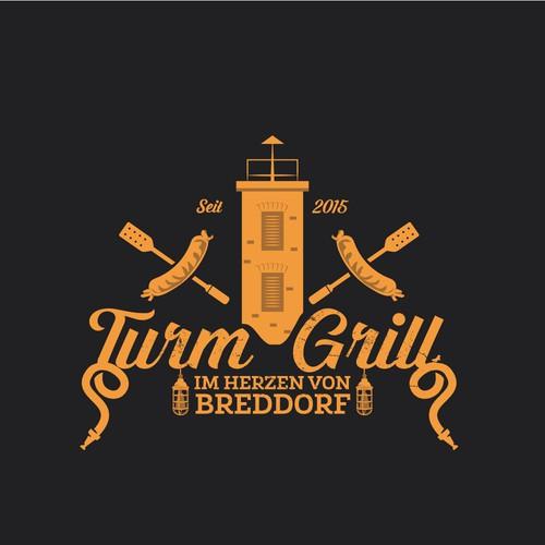 Logo concept for German grill restaurant