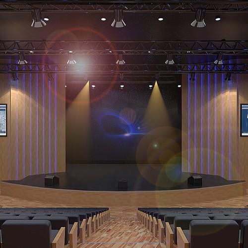 Modern theater interior design