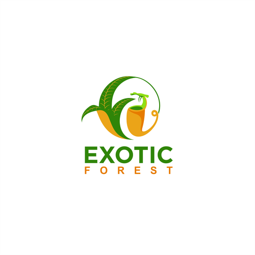 Exotic concept logo for Exotic Forest