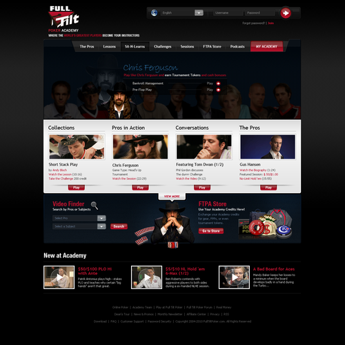Website for the Full Tilt Poker Academy