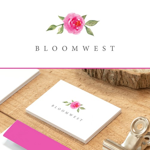 Elegant logo for florist
