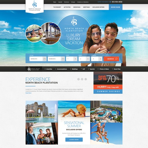 Webdesign for luxury resort