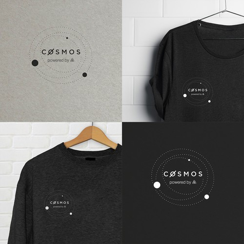 Design a sweatshirt logo for Cosmos, a network of distributed ledgers