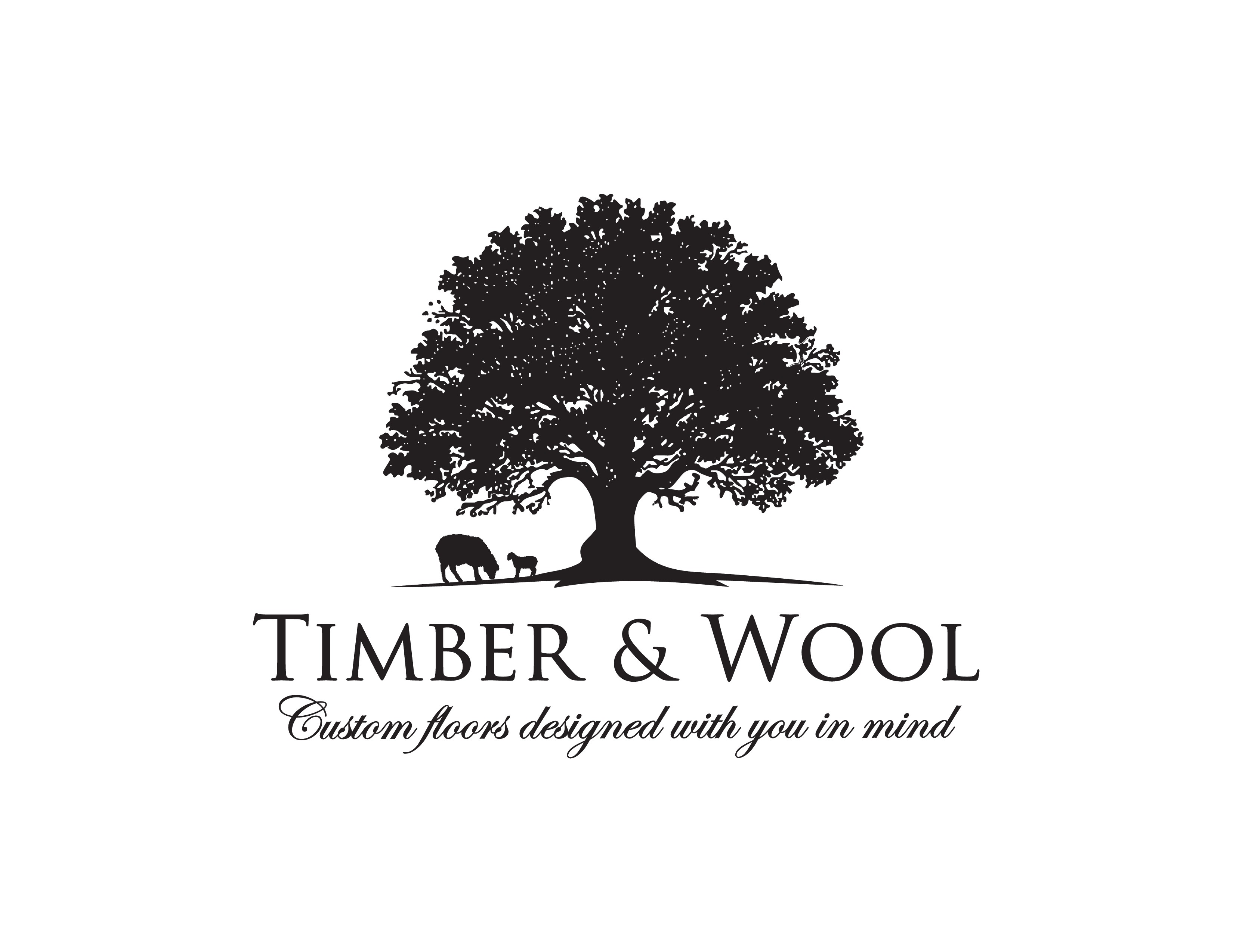 Create a sophisticated, organic logo designed for High-end custom flooring and building materials.