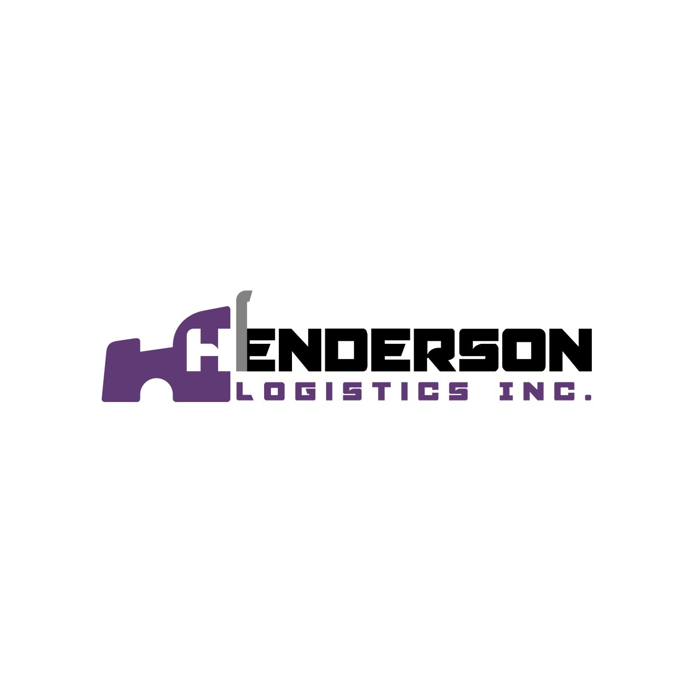 Create a hard-driving logo for Henderson Logistics Inc.