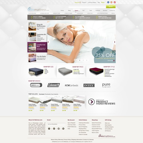 AirMattress.com Home page