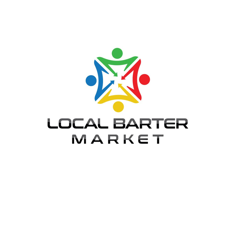 Creative logo for a website where people can Barter services