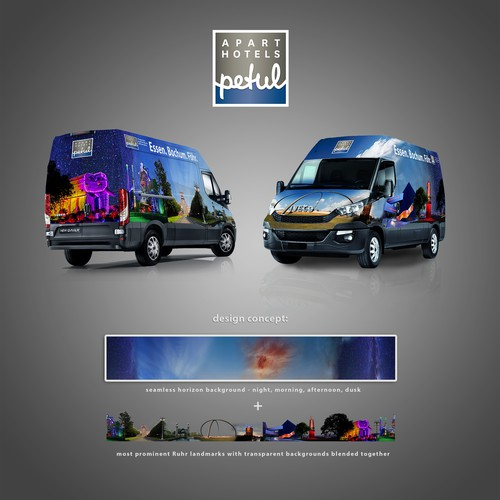 Car wrap for Travel & Accommodation service company