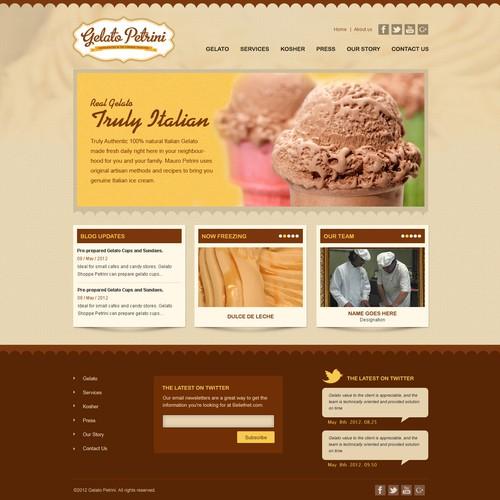 Ice cream website