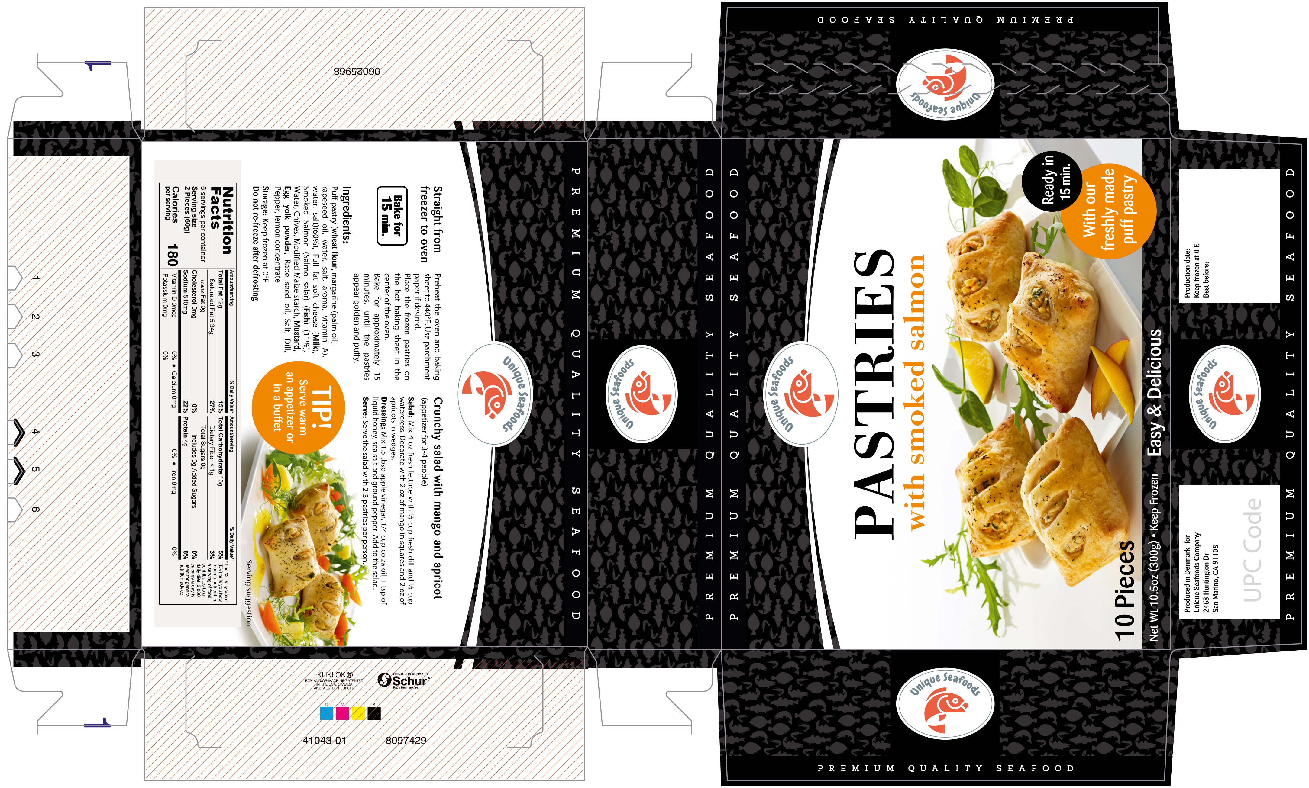 Language and minor design changes on pastry packaging
