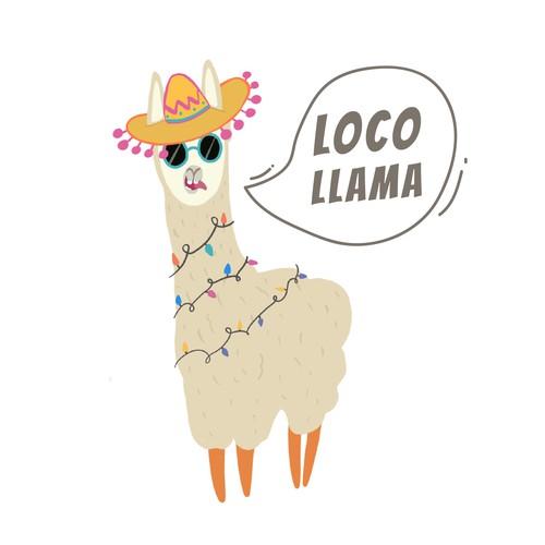 Logo design for Loco Llama