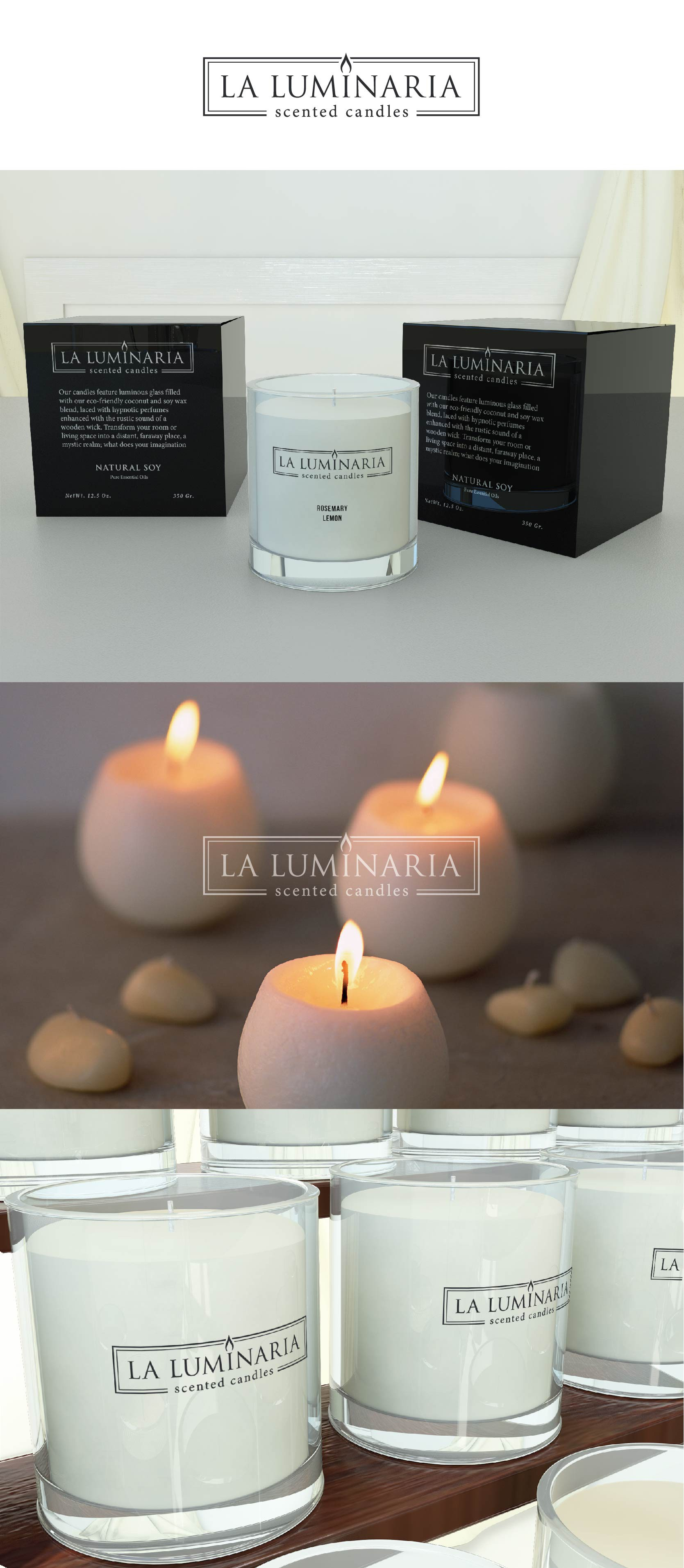 Design a sofisticated logo for LA LUMINARIA candels