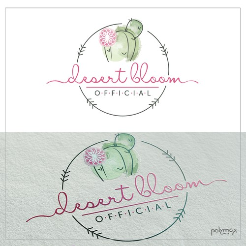 Desert Bloom Logo Design