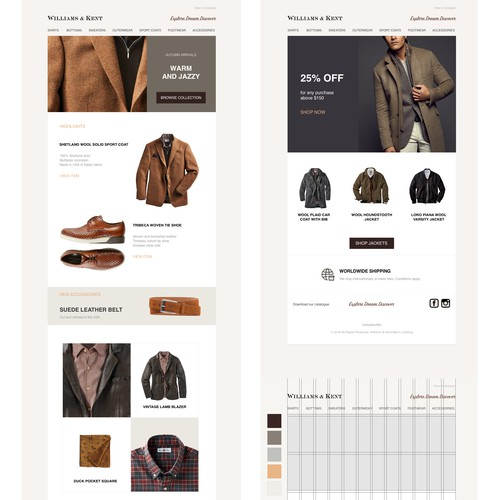 Williams & Kent Email Redesign