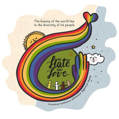 Illustration for a Non Profit against hate