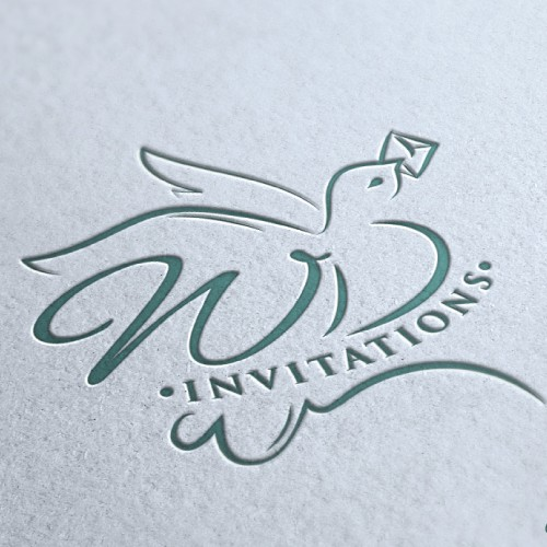 logo for White Dove Invitations (artisanal stationary) OR White Dove artisanal invitations & stationary