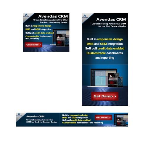 Banners for online automotive publication