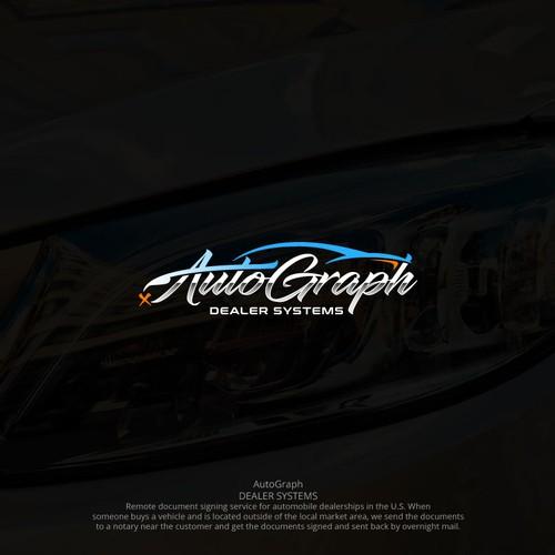 Sketchy logo for auto dealer company