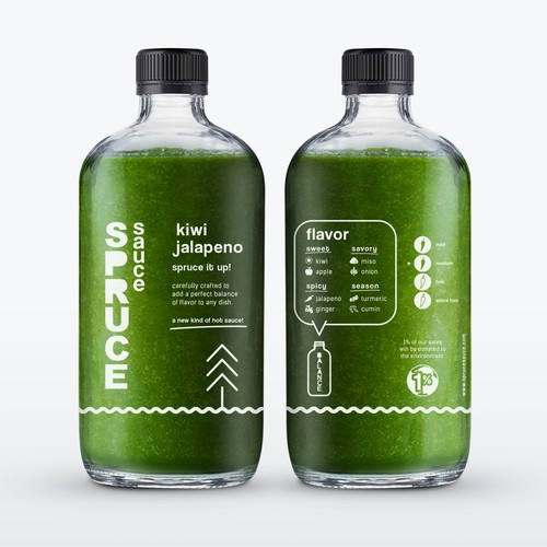 Label Design for Spruce Sauce