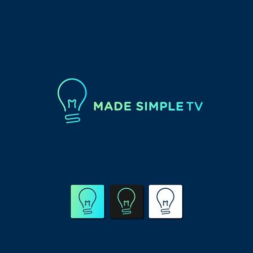 Design a sleek logo for MadeSimpleTV