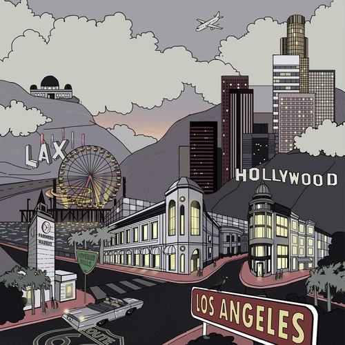 Los-Angeles theme illustration