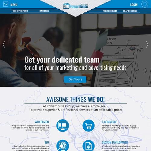Website with Custom Illustration