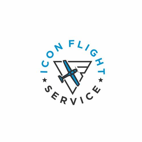 Modern simple sharp flight school