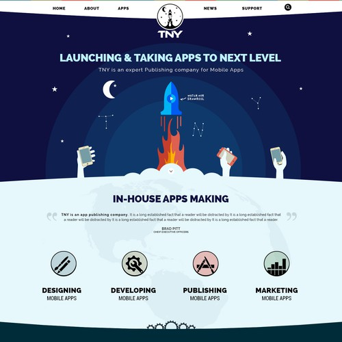 artistic creative web app based design