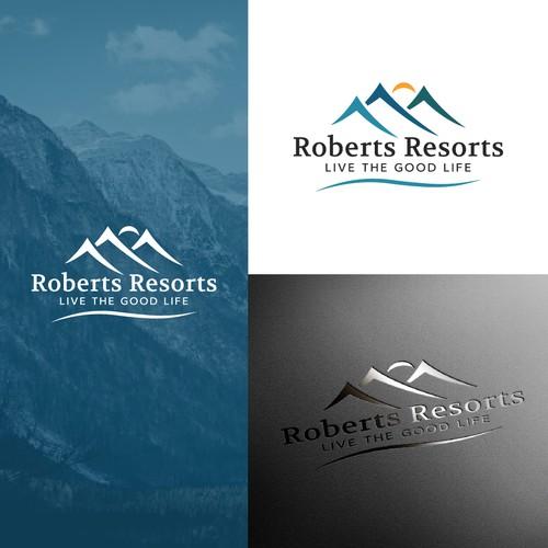Minimal nature logo for a Resort