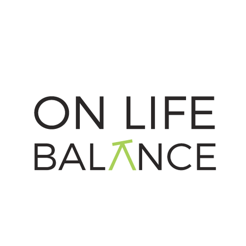 Minimal logo for ''On Life Balance''