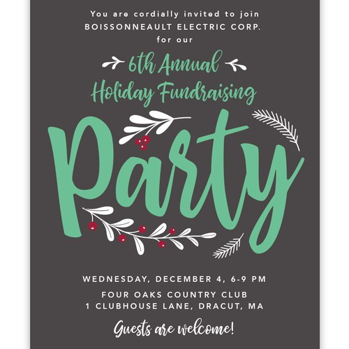 Invitation for a Holiday Fundraising Party
