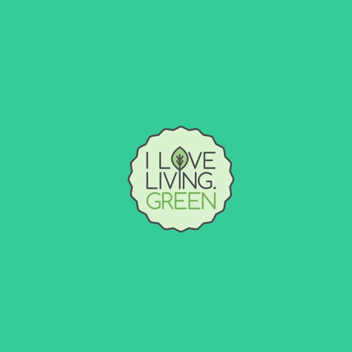 Logo design for I Love Living Green