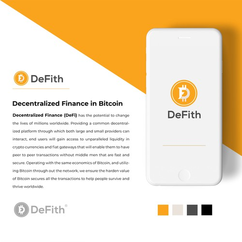 Decentralized Finance in Bitcoin concept