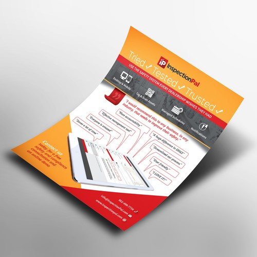 Flyer for InspectionPal safety system