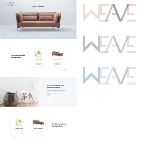 Logo for Weave furniture website
