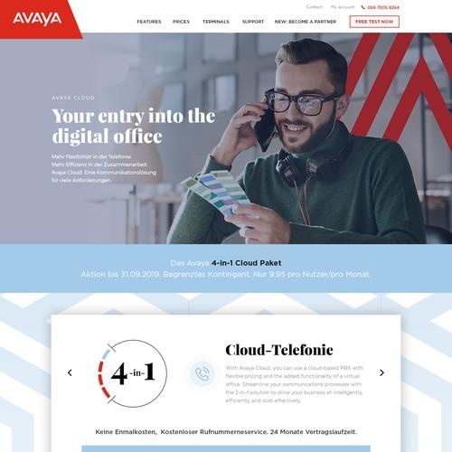 Create a progressive Subpage for Avayacloud