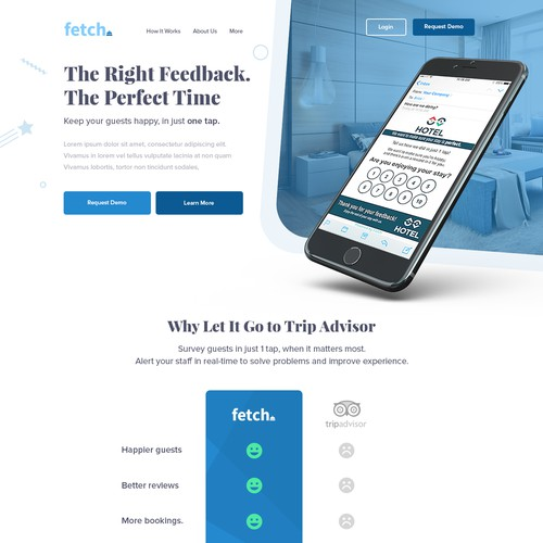 Hotel ratings Landing Page