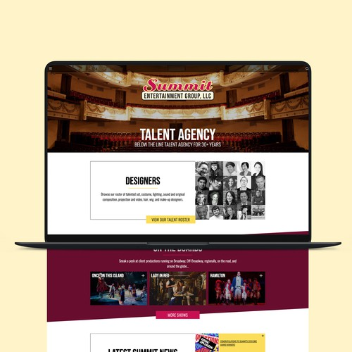 Summit Entertainment Group Webflow Website Design
