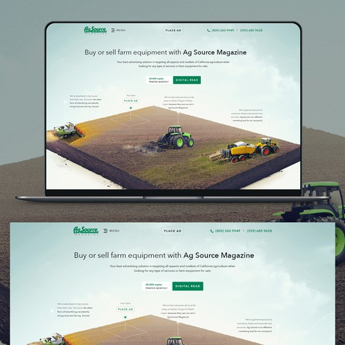 Creative Agricultural Website Digital Magazine