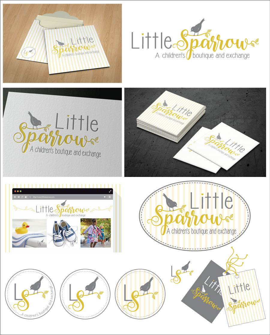Little Sparrow: Store logo for a children's boutique and exchange
