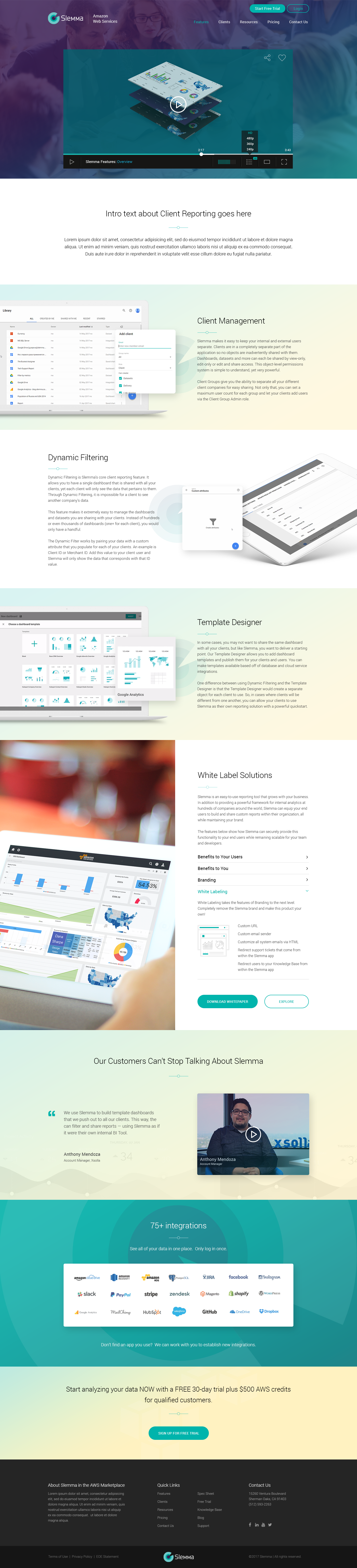 Slemma: AWS Marketplace Microsite