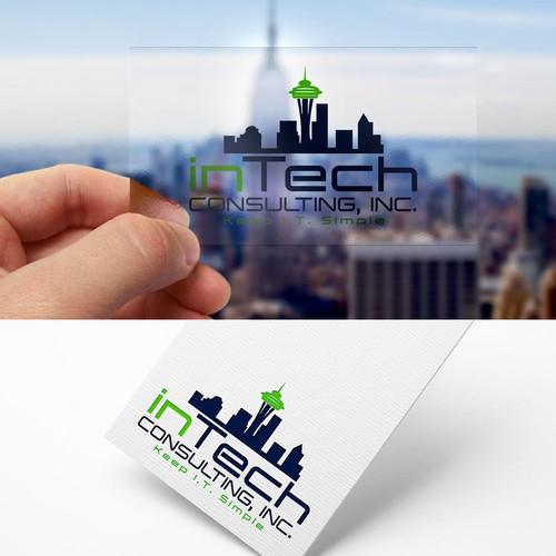 Create an eye catching logo for an I.T. company
